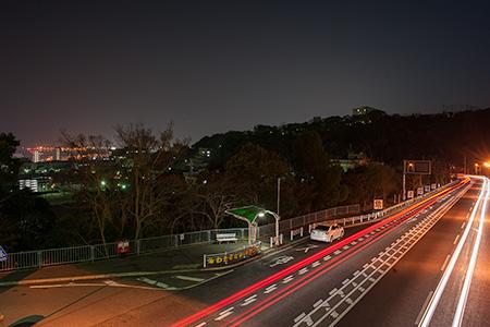 鶴甲南歩道橋の夜景