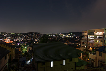 鶴川台 尾根緑地(西側)の夜景