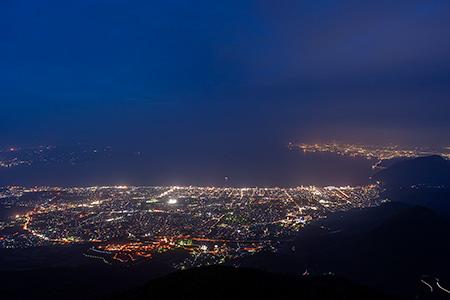 鶴見岳の夜景
