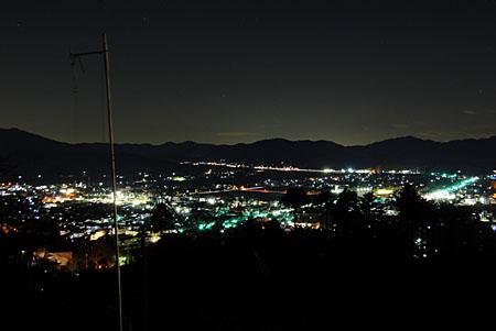 笠間つつじ公園の夜景