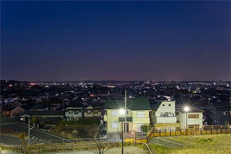 つつじヶ丘緑地の夜景