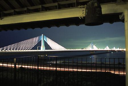 伊勢湾台風記念館の夜景