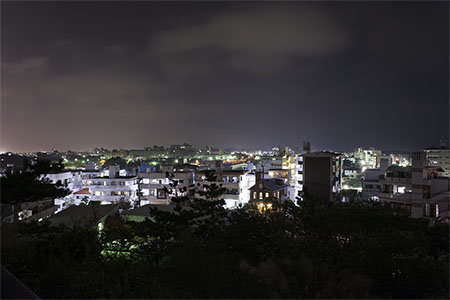 上原高台公園の夜景