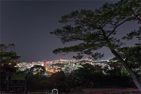 名護中央公園 ウーマク広場の夜景