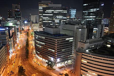 梅田阪急ビル 展望ロビーの夜景