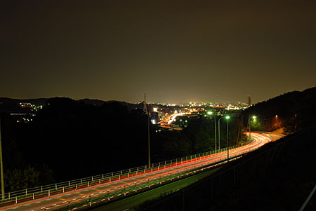 釆女町公園の夜景