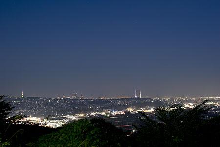 海の見える丘公園の夜景