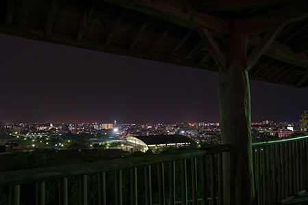 浦添運動公園 市民球場前の夜景