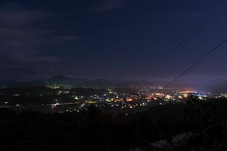 雲海展望道路公園の夜景