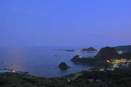 魚見塚展望台の夜景