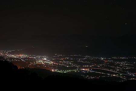 魚沼スカイライン 魚沼展望台の夜景