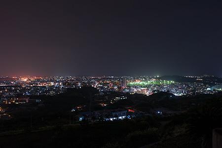 浦添城跡の夜景
