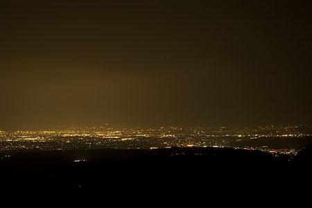 牛岳パノラマ展望台の夜景