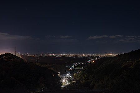 牛頸ダムの夜景