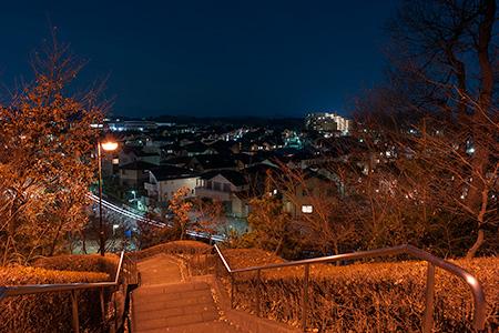 宇津貫公園の夜景
