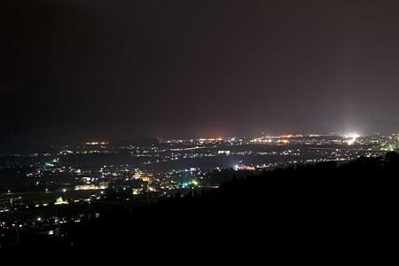 上原高原 展望所の夜景