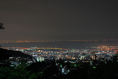 渦森展望台公園の夜景