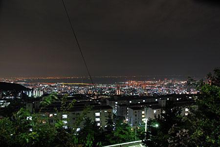 渦森中公園の夜景