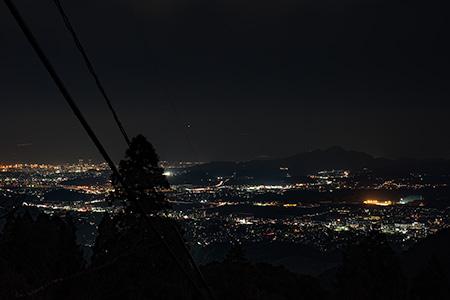 若杉楽園キャンプ場の夜景