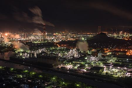 鷲羽山スカイラインの夜景
