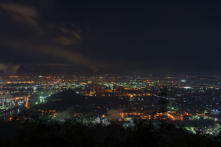 鷲羽山スカイライン 水島展望台の夜景