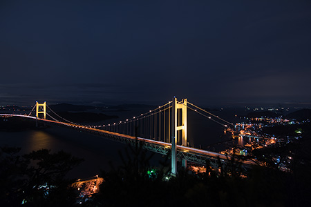 鷲羽山 山頂の夜景