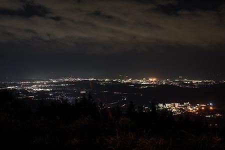 湯の岳ウインドパークの夜景