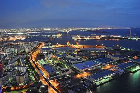 コスモタワー 大阪府咲洲庁舎展望台の夜景