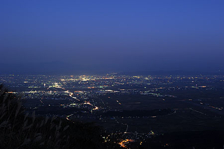 夜景100選「弥彦山」