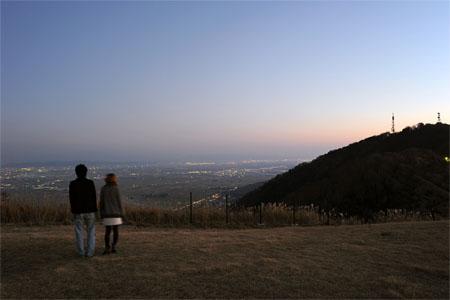 弥彦山の夜景