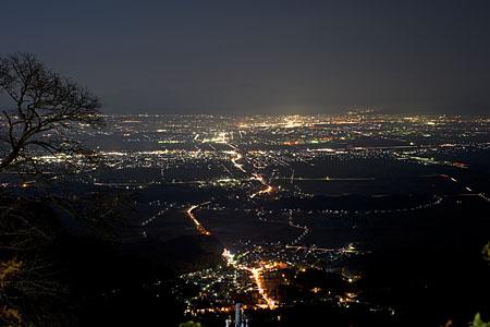 弥彦山 山頂公園の夜景