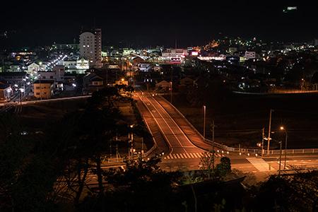 山吹の里歴史公園の夜景