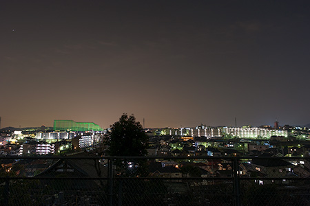 山田北公園の夜景