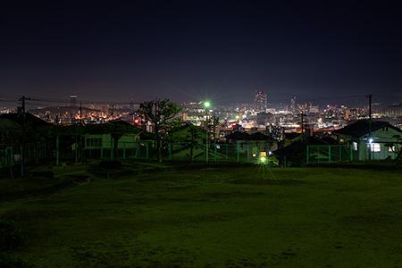 山越公園の夜景