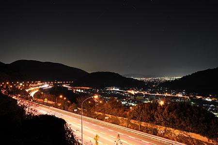 山北町 東名高速横の夜景