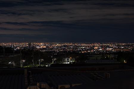 山本山手中央公園の夜景