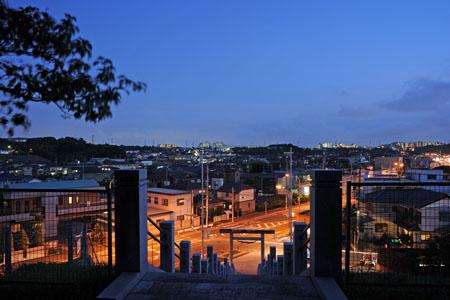 山田神社の夜景