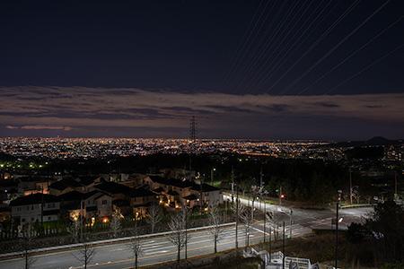 山手台ビューテラスの夜景