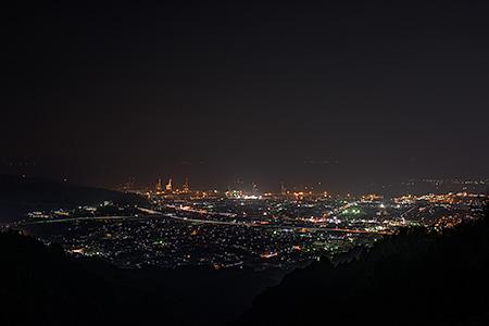 山原付近の夜景