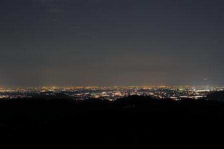 八女中央大茶園の夜景