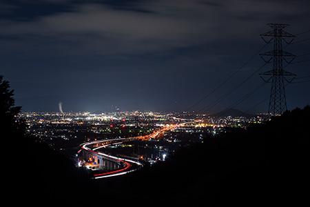 弥宮池の夜景