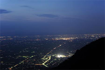 八乙女山の夜景