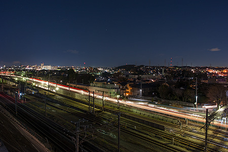 八阪神社前の夜景
