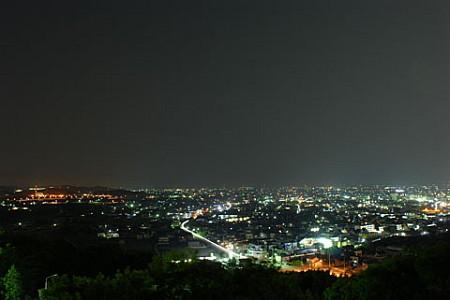 八ツ面山の夜景