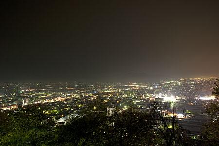 八幡山展望台の夜景