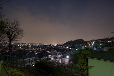 横川つつじ公園の夜景