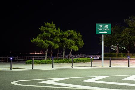 米山サービスエリア(上り)の夜景