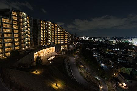 吉田町大日谷公園の夜景