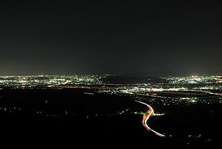 遙照山総合公園の夜景
