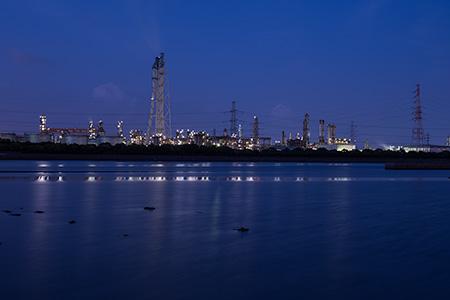 養老川臨海公園の夜景